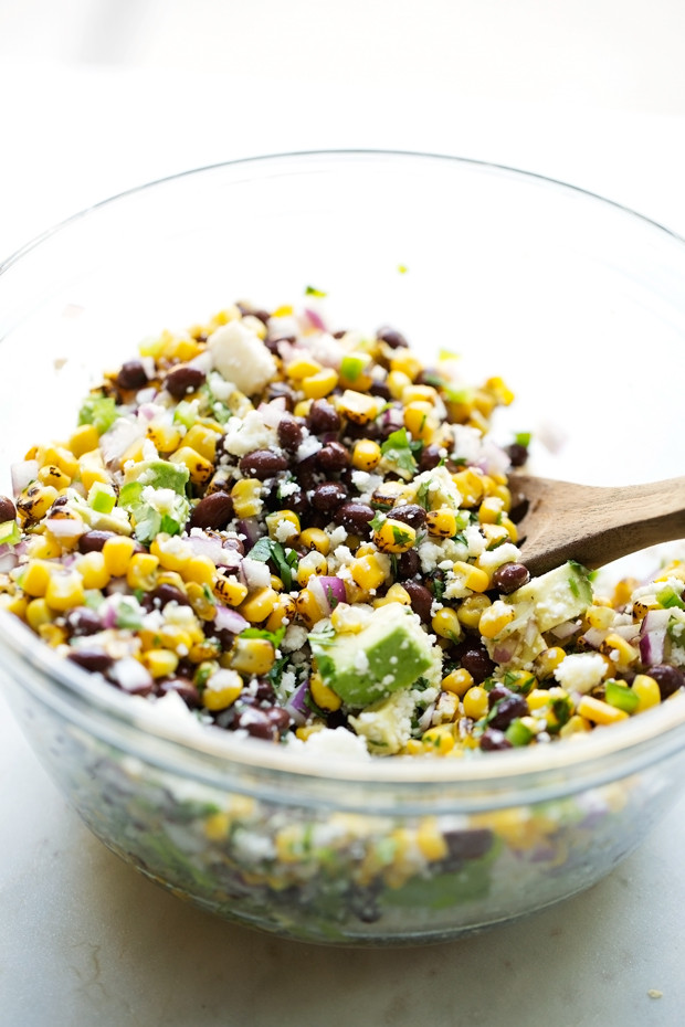 Street Corn Salad  Mexican Street Corn Salad with Black Beans and Avocados