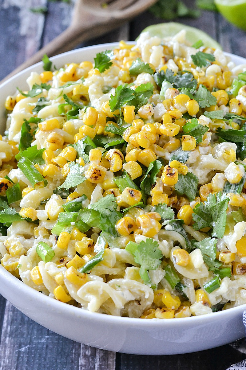 Street Corn Salad  Mexican Street Corn Pasta Salad Mother Thyme