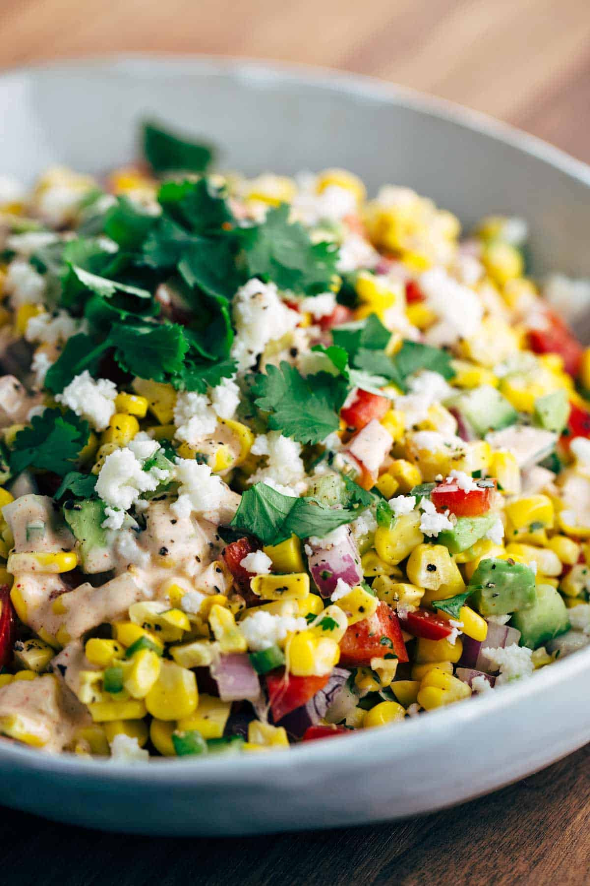 Street Corn Salad  Mexican Street Corn Salad with Chipotle Dressing