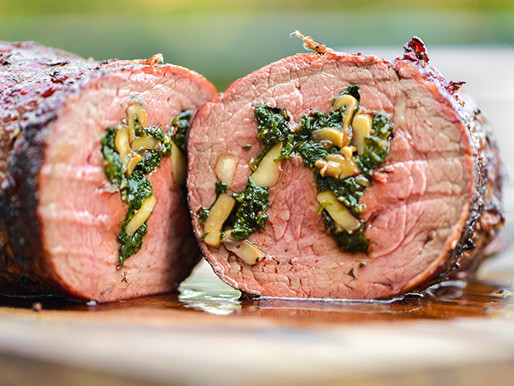 Stuffed Beef Tenderloin  Grilling Spinach and Mushroom Stuffed Beef Tenderloin