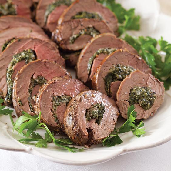 Stuffed Beef Tenderloin  Spinach Stuffed Beef Tenderloin Paula Deen Magazine
