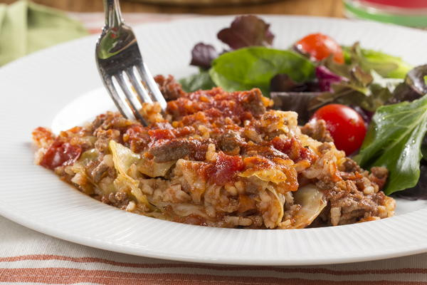 "Stuffed Cabbage Casserole  ""Unstuffed"" Stuffed Cabbage Casserole"