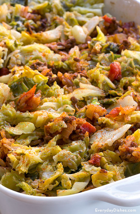Stuffed Cabbage Casserole  Stuffed Cabbage Casserole Recipe Made Low Carb