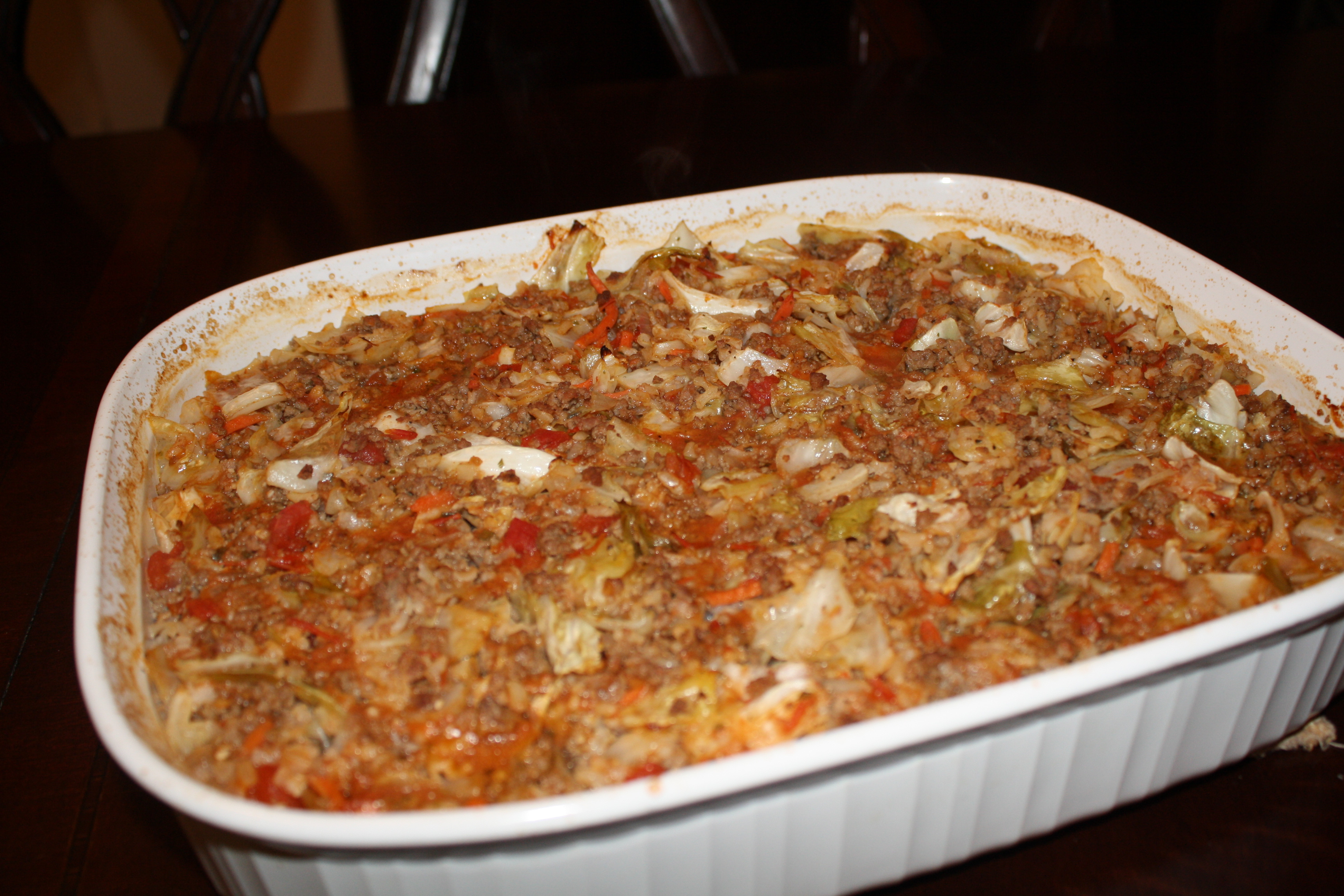 Stuffed Cabbage Casserole  Monday Menu Stuffed Cabbage Casserole With Just a Bit