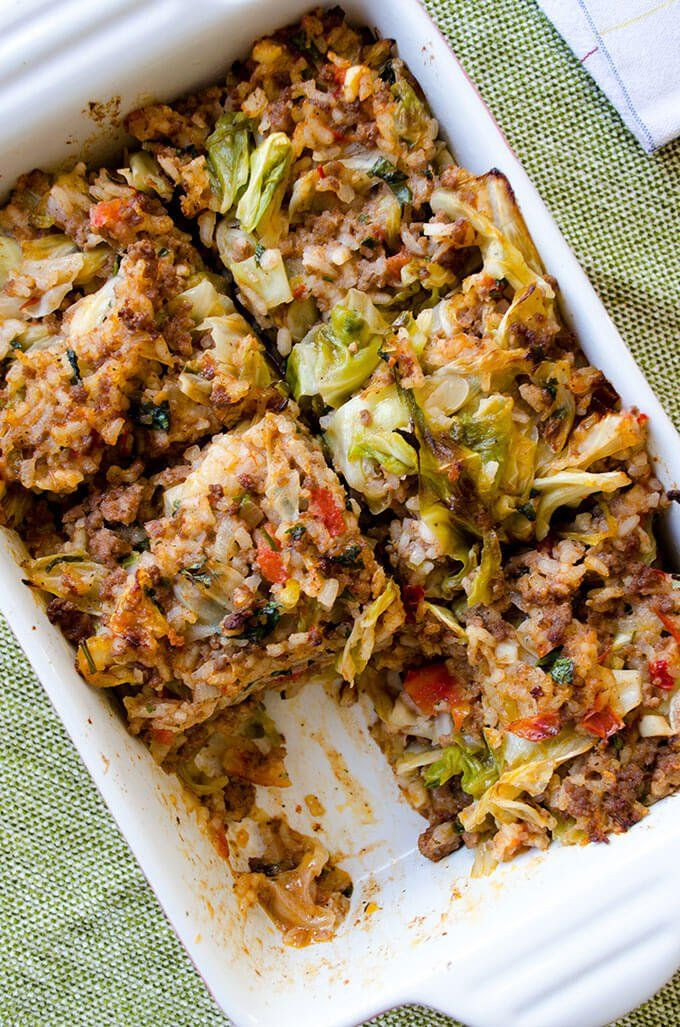 Stuffed Cabbage Casserole  11 Cabbage Casserole Recipes That Are So Easy to Make