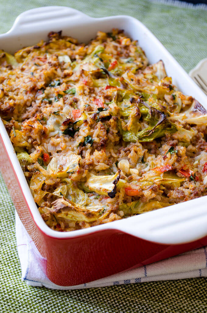 Stuffed Cabbage Casserole  Unstuffed Cabbage Casserole [Video] Give Recipe