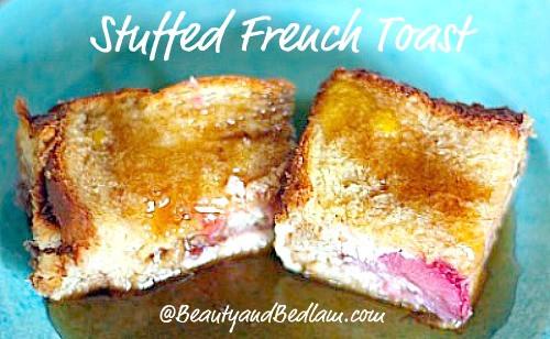 Stuffed French Toast Casserole  Stuffed French Toast Casserole Strawberry Baked French