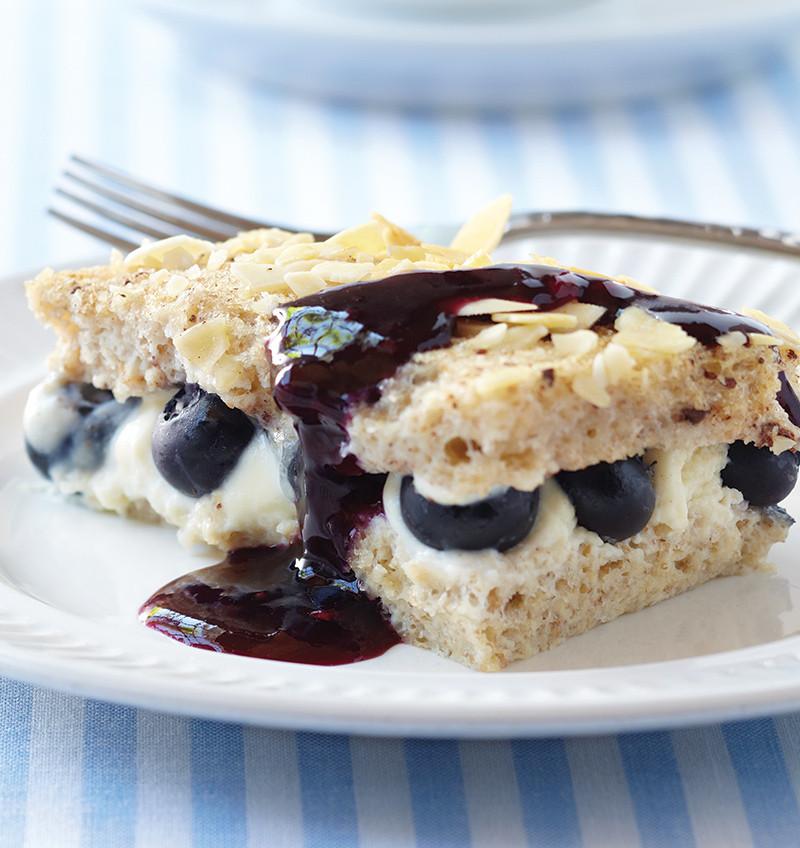 Stuffed French Toast Casserole  Blueberry Cheesecake Stuffed French Toast Casserole Recipe