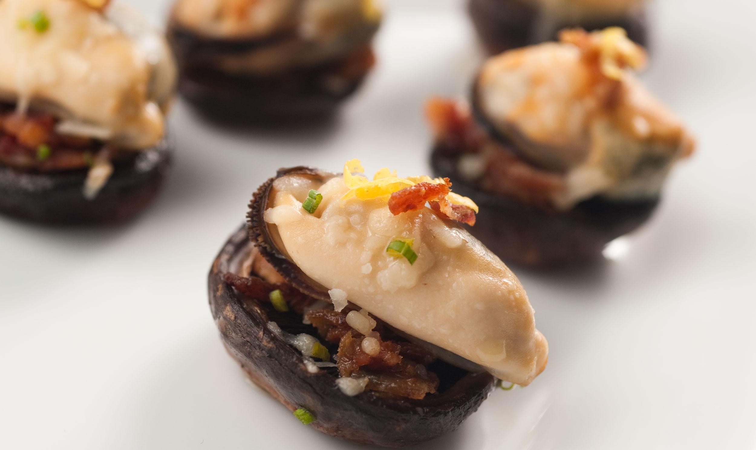 Stuffed Mushroom Caps  Mussel Stuffed Mushroom Caps PEI Mussels Mussel Recipes