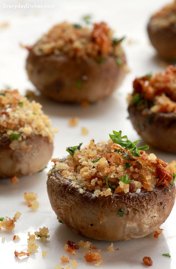 Stuffed Mushrooms Vegetarian  Ve arian Stuffed Mushrooms Recipe