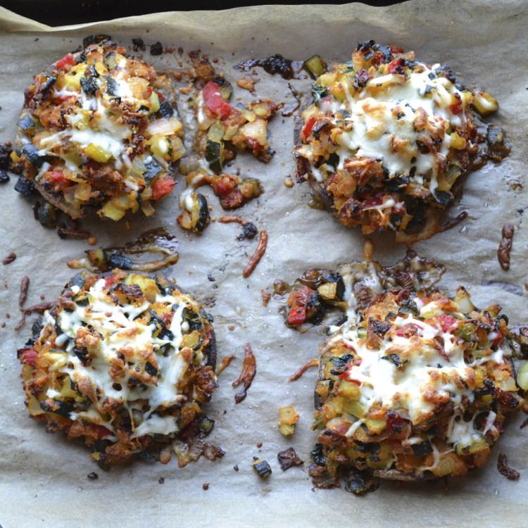 Stuffed Mushrooms Vegetarian  Ve able Stuffed Portabella Mushrooms Taste Love and