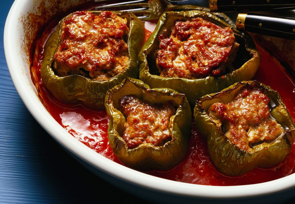 Stuffed Peppers With Ground Beef  Slow Cooker Stuffed Peppers With Ground Beef