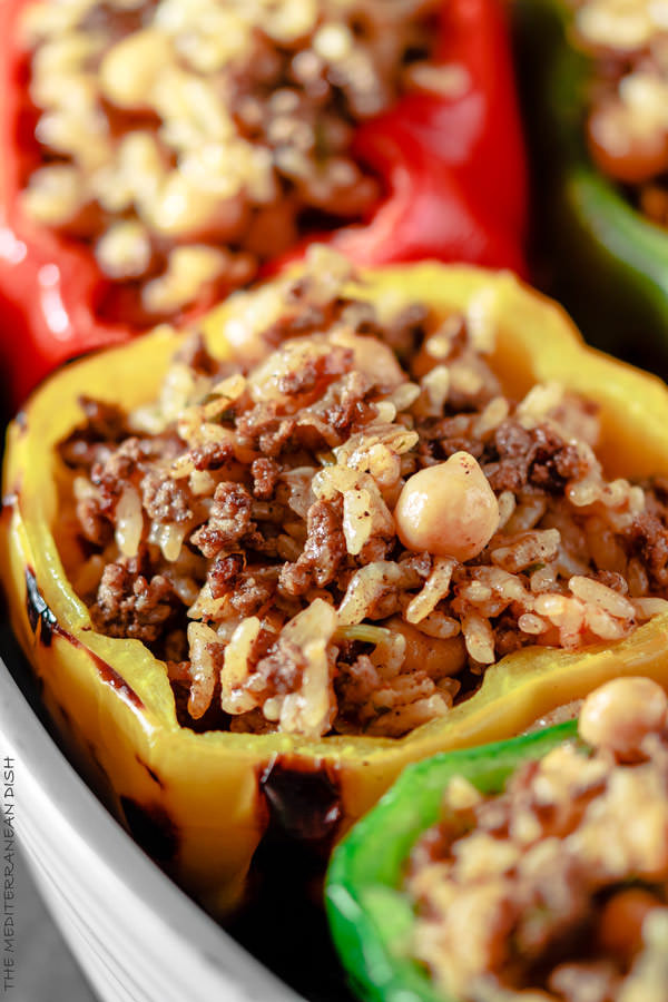 Stuffed Peppers With Ground Beef  Mediterranean Style Stuffed Pepper Recipe