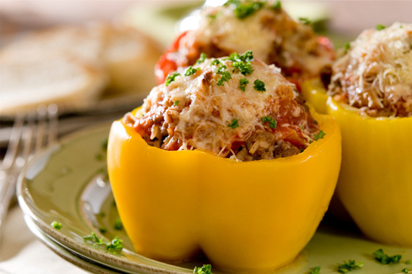 Stuffed Peppers With Ground Beef  Sunday dinner Bell peppers stuffed with couscous and
