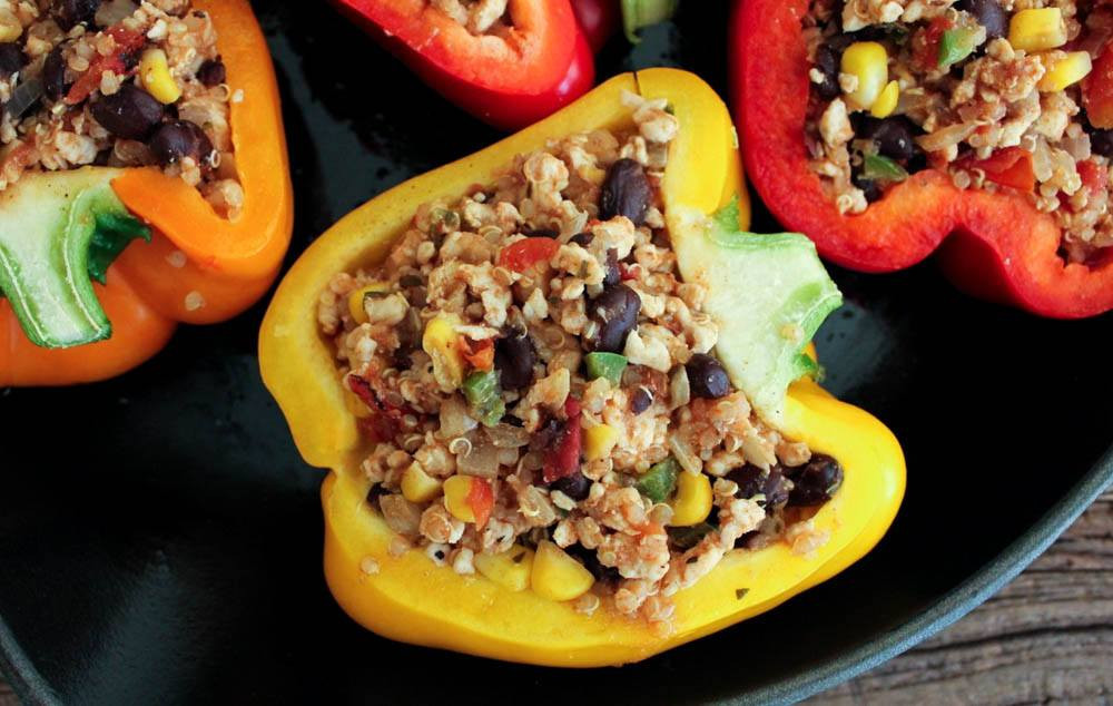 Stuffed Peppers With Ground Turkey  Quick And Easy Way To Make Stuffed Peppers