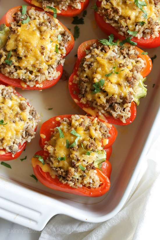 Stuffed Peppers With Ground Turkey  Turkey Stuffed Peppers