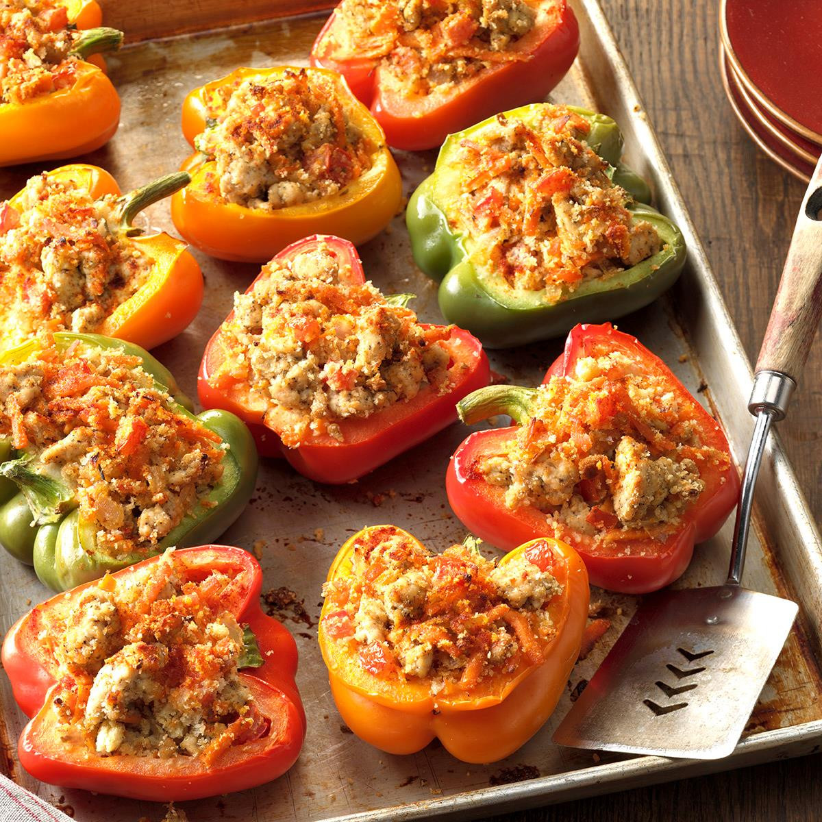 Stuffed Peppers With Ground Turkey  Turkey Stuffed Bell Peppers Recipe