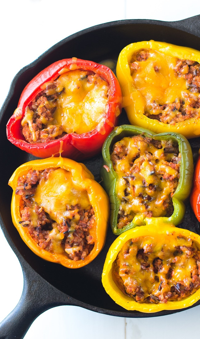 Stuffed Peppers With Ground Turkey  Ground Turkey Stuffed Peppers