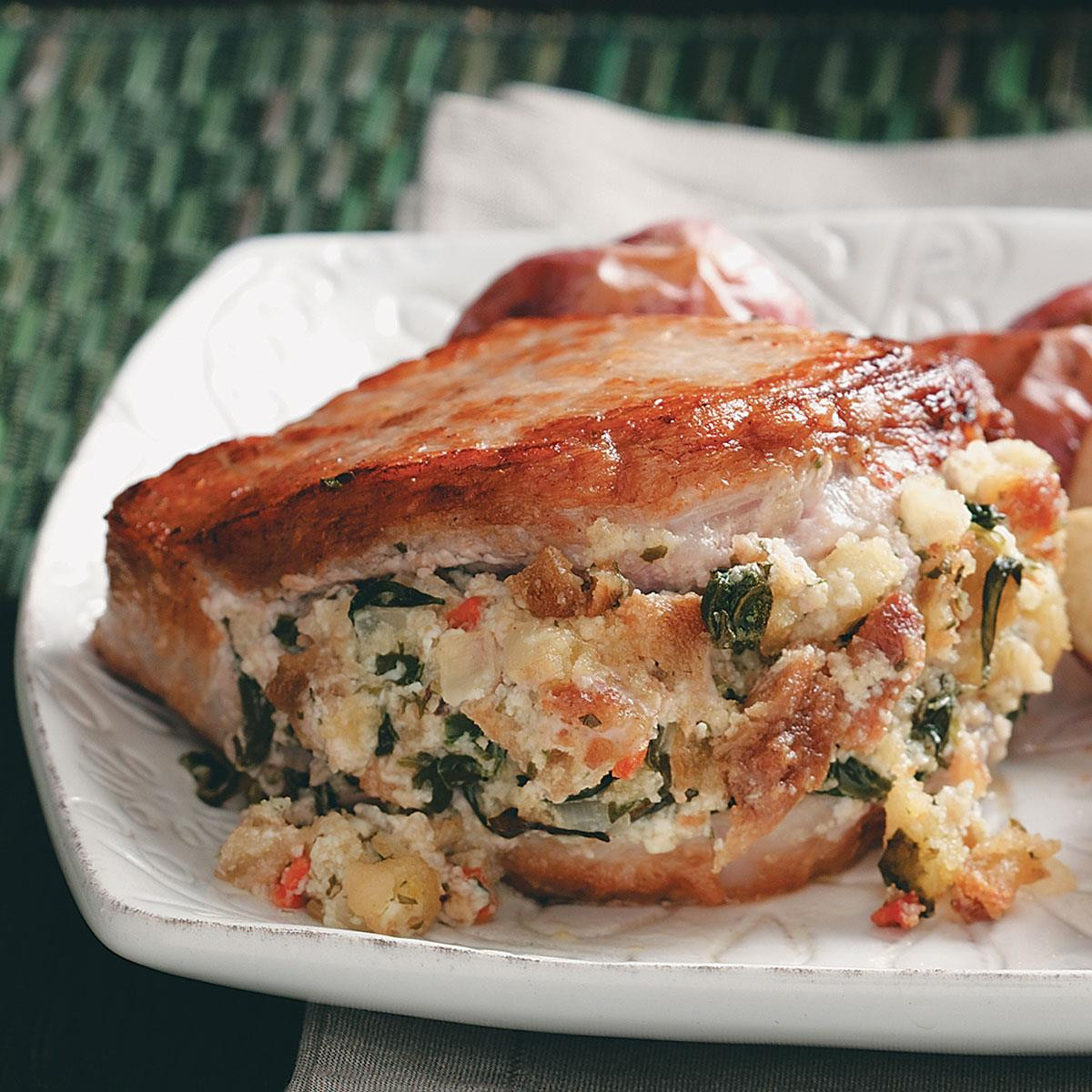 Stuffed Pork Chops Recipe  Savory Stuffed Pork Chops Recipe