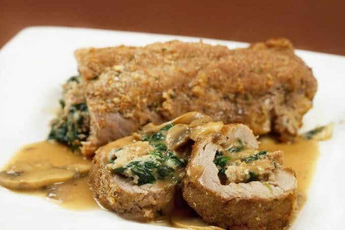 Stuffed Pork Tenderloin  Pork Tenderloin Stuffed with Sausage and Spinach
