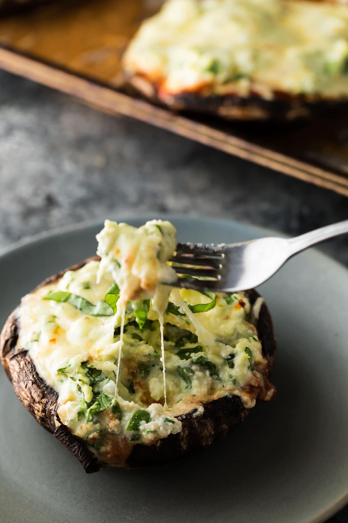Stuffed Portabella Mushroom Recipe  Lasagna Stuffed Portobello Mushrooms Freezer to Oven
