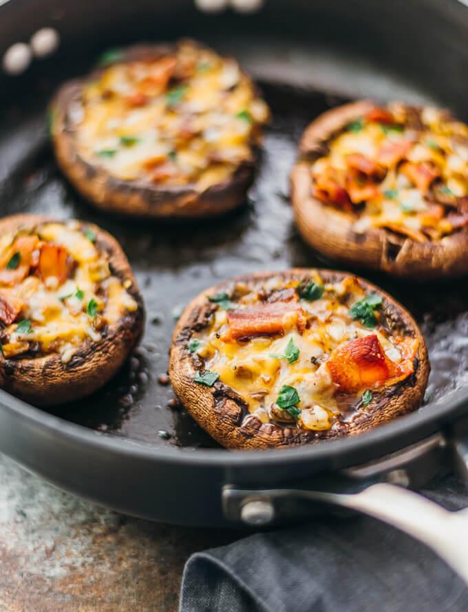 Stuffed Portabella Mushroom Recipe  Stuffed Portobello Mushrooms With Bacon And Cheddar
