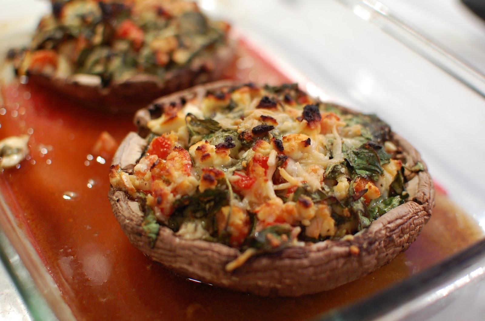 Stuffed Portabella Mushrooms  Reckless Abandon Spinach and Feta Stuffed Portabella