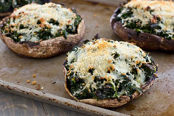 Stuffed Portabella Mushrooms  Kale Stuffed Portabella Mushrooms Recipe