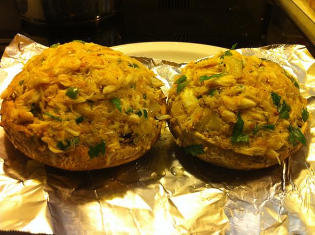 Stuffed Portabella Mushrooms  Crab Stuffed Portabella Mushrooms Recipe Food