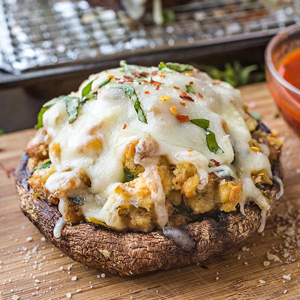 Stuffed Portobello Mushroom  Pizza Stuffed Portobello Mushrooms