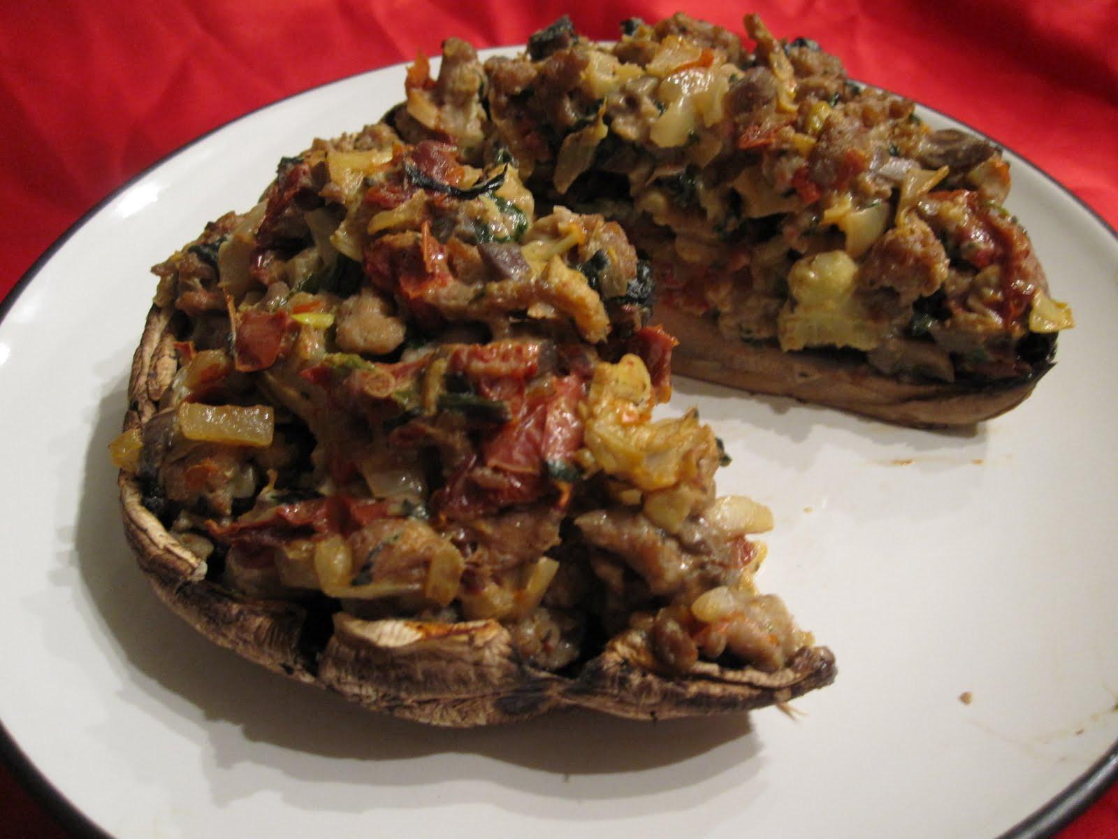 Stuffed Portobello Mushroom  Paleo Girl s Kitchen The BIGGER Challenge and Stuffed