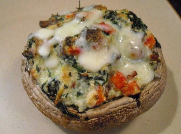 Stuffed Portobello Mushroom  Spinach & Ricotta Stuffed Portobello Mushrooms Recipe