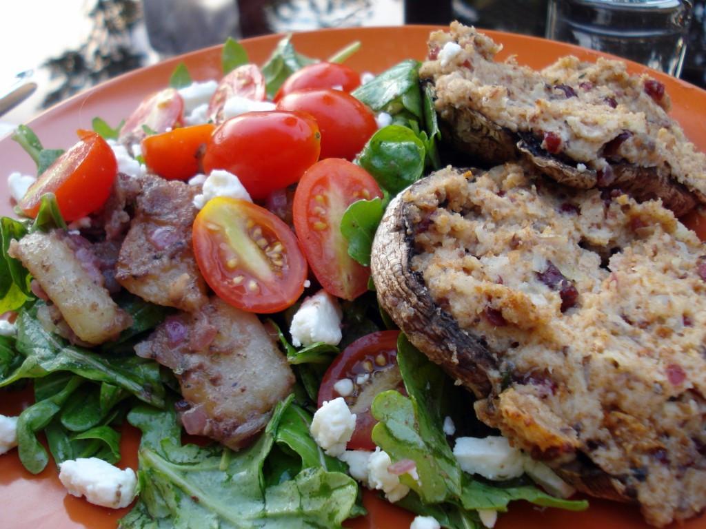 Stuffed Portobello Mushroom  Ve arian Stuffed Portobello Mushrooms