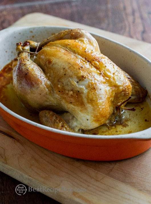 Stuffed Whole Chicken  easy baked whole chicken
