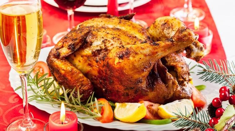 Stuffed Whole Chicken  Christmas recipe How to make Prune and Nut Stuffed Roast