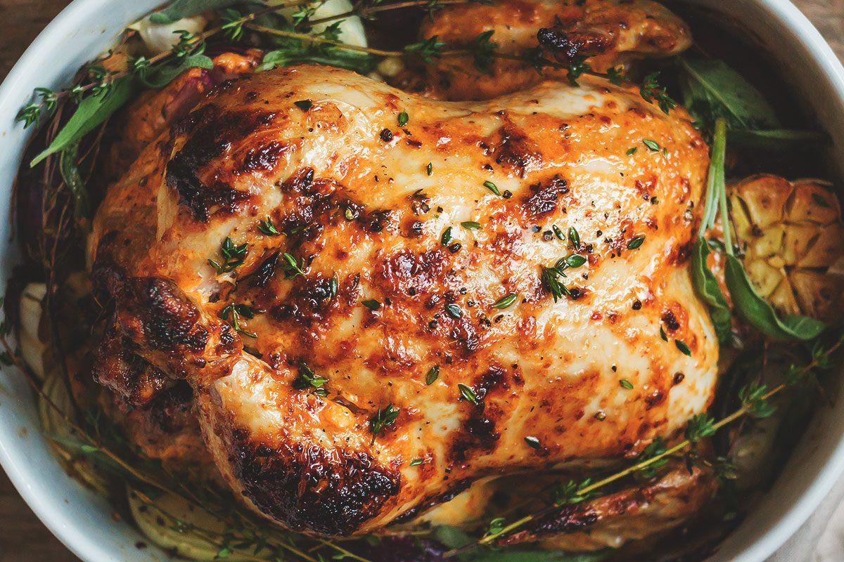 Stuffed Whole Chicken  Mayonnaise Roasted Whole Chicken Recipe — Eatwell101
