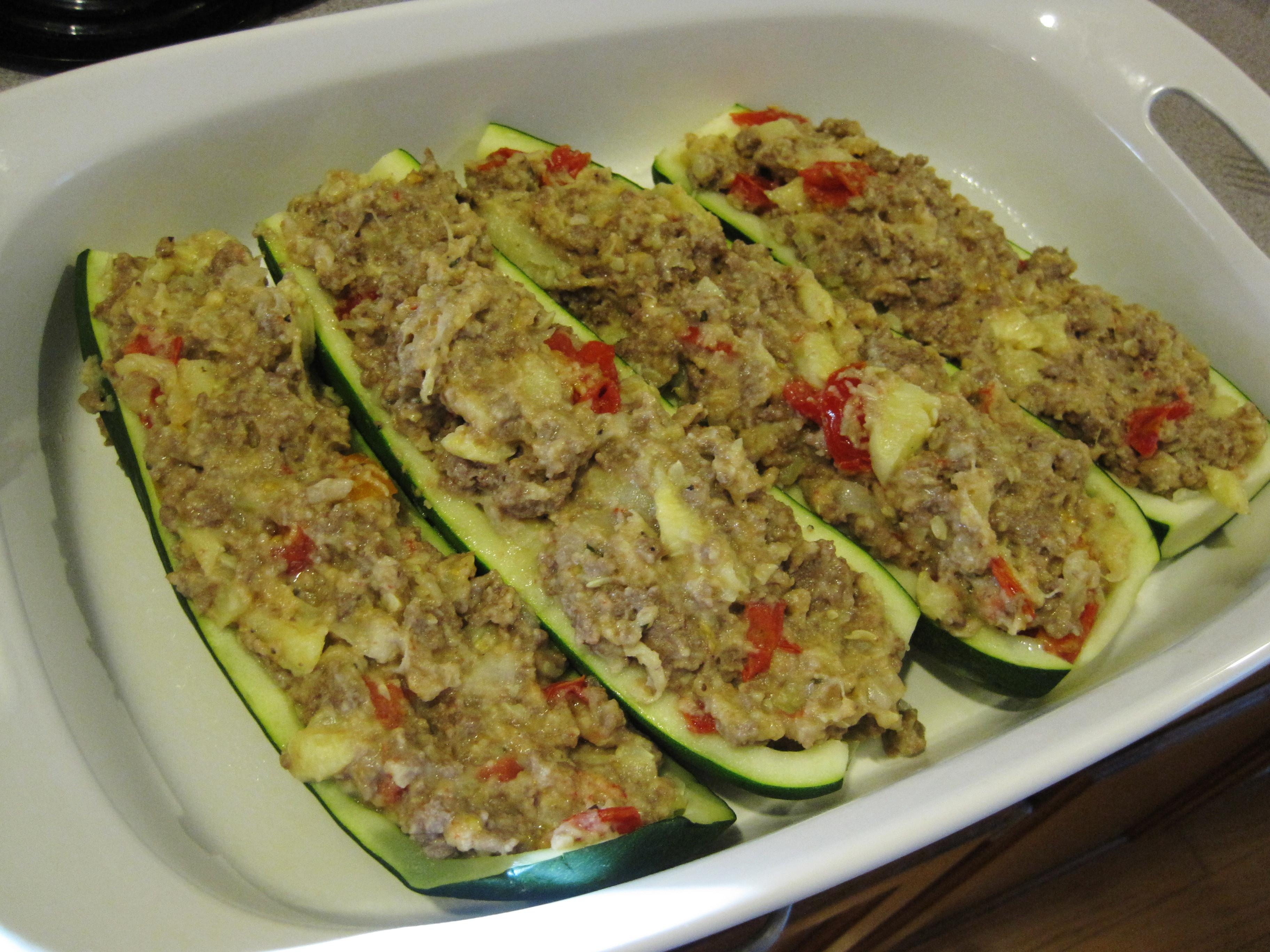 Stuffed Zucchini Ground Beef  Stuffed Zucchini Boats A Summer Garden Recipe Loving Here