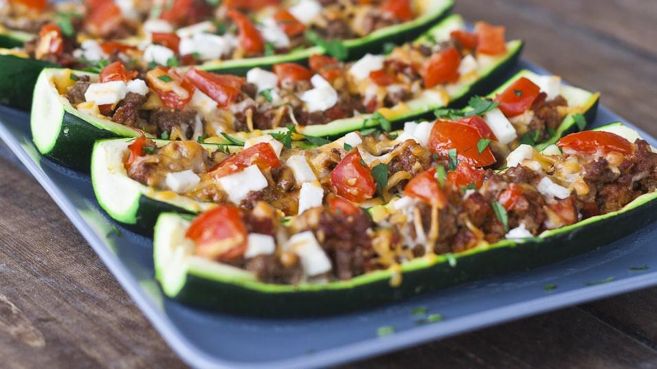 Stuffed Zucchini Ground Beef  Stuffed Zucchini Jo Cooks