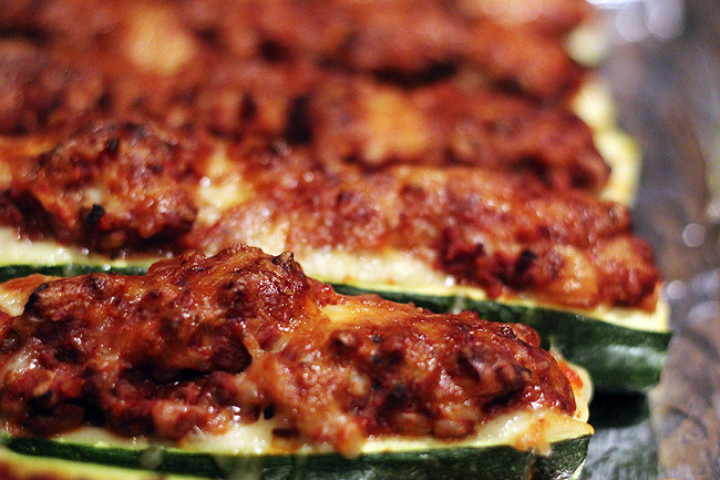 Stuffed Zucchini Ground Beef  Stuffed Zucchini with Ground Beef and Rice bites out of life