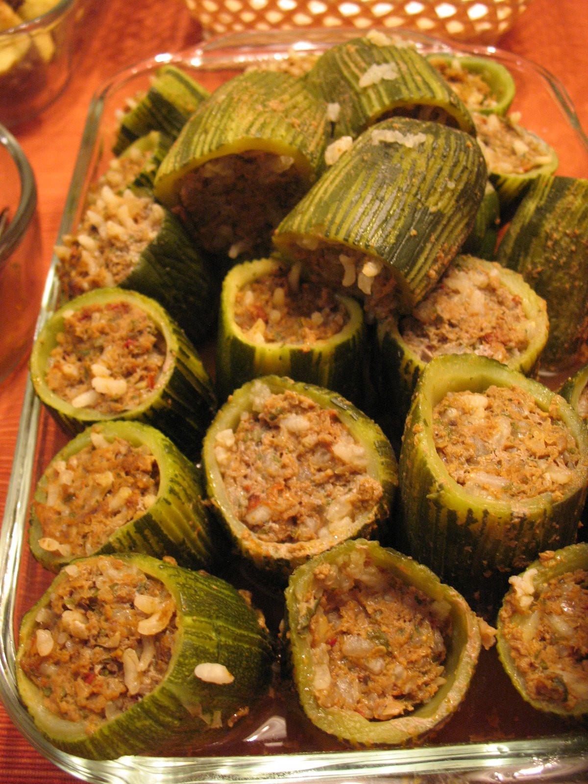 Stuffed Zucchini Ground Beef  Stuffed zucchini with ground beef Etli kabak dolması