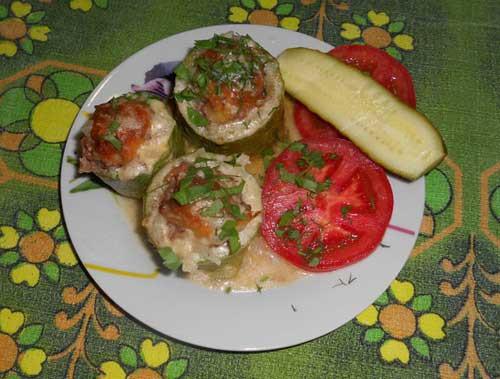 Stuffed Zucchini Ground Beef  Stuffed zucchini with ground beef