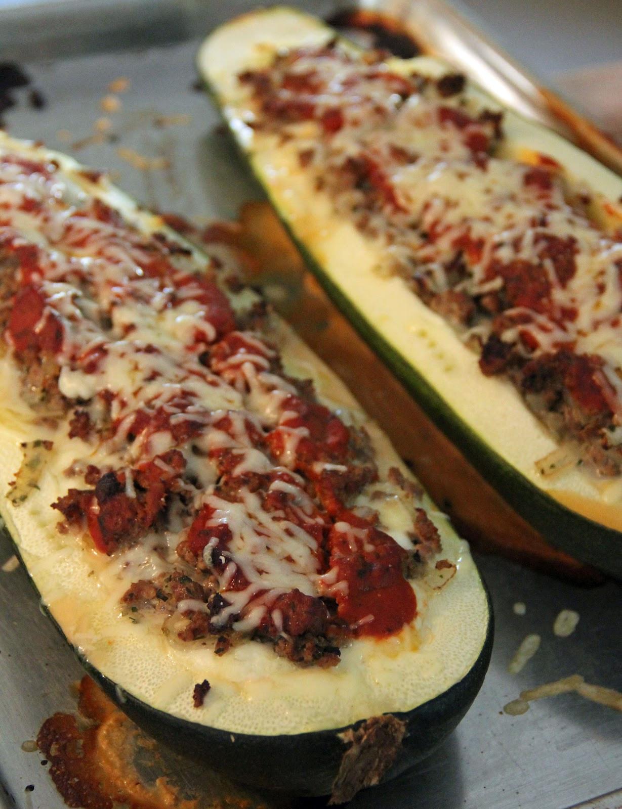 Stuffed Zucchini Ground Beef  Jo and Sue Lasagna Stuffed Zucchini