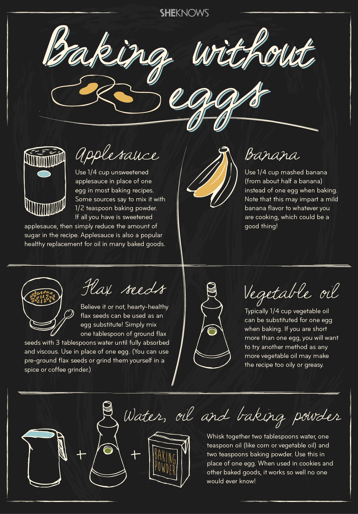 Substitute Applesauce For Eggs  5 Easy egg substitutes every baker needs to know
