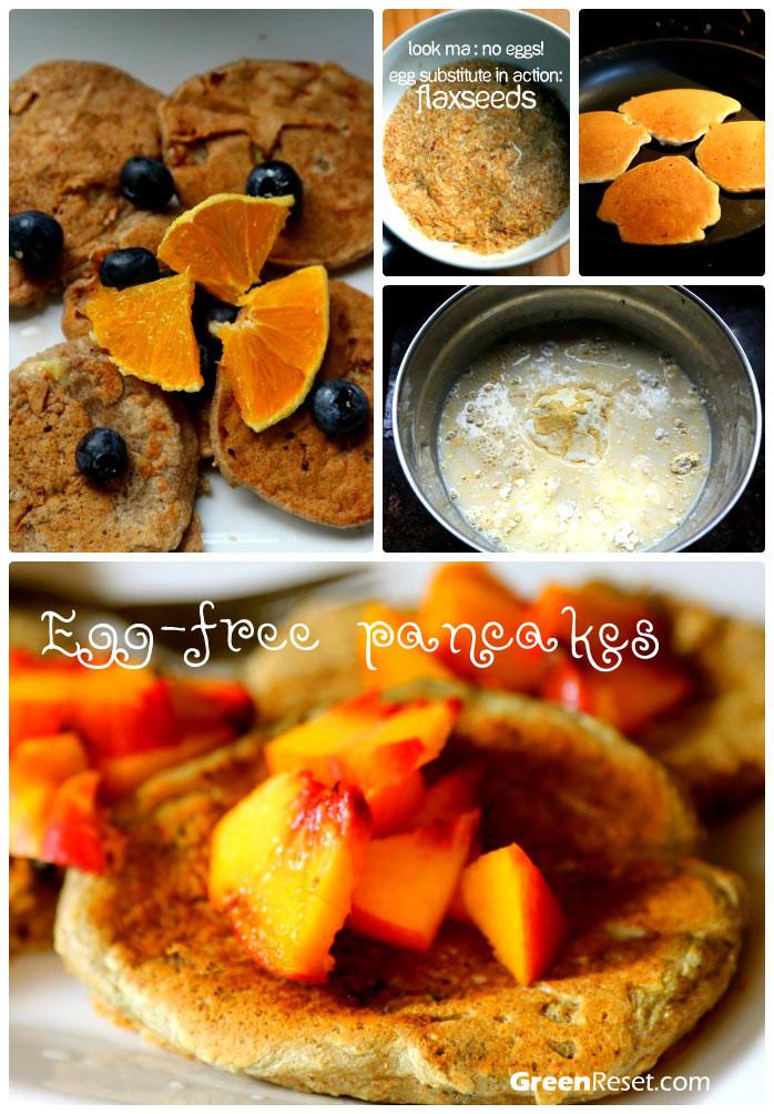 Substitute For Eggs In Pancakes  egg substitute in pancake recipe