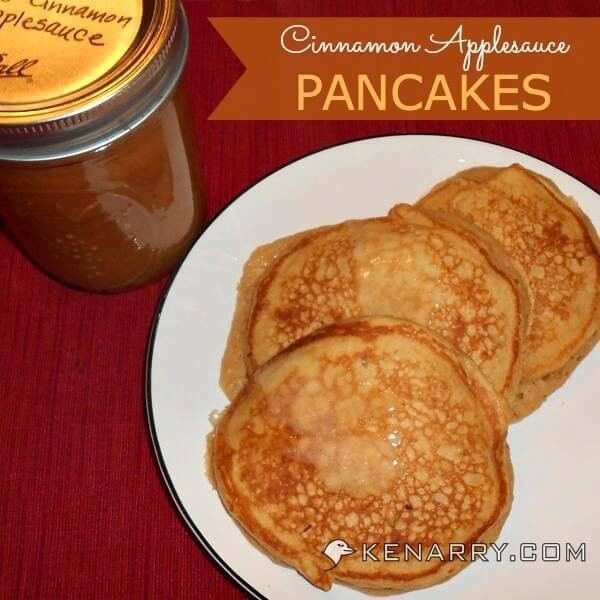 Substitute For Eggs In Pancakes  Cinnamon Applesauce Pancakes Whole Wheat Breakfast Treat