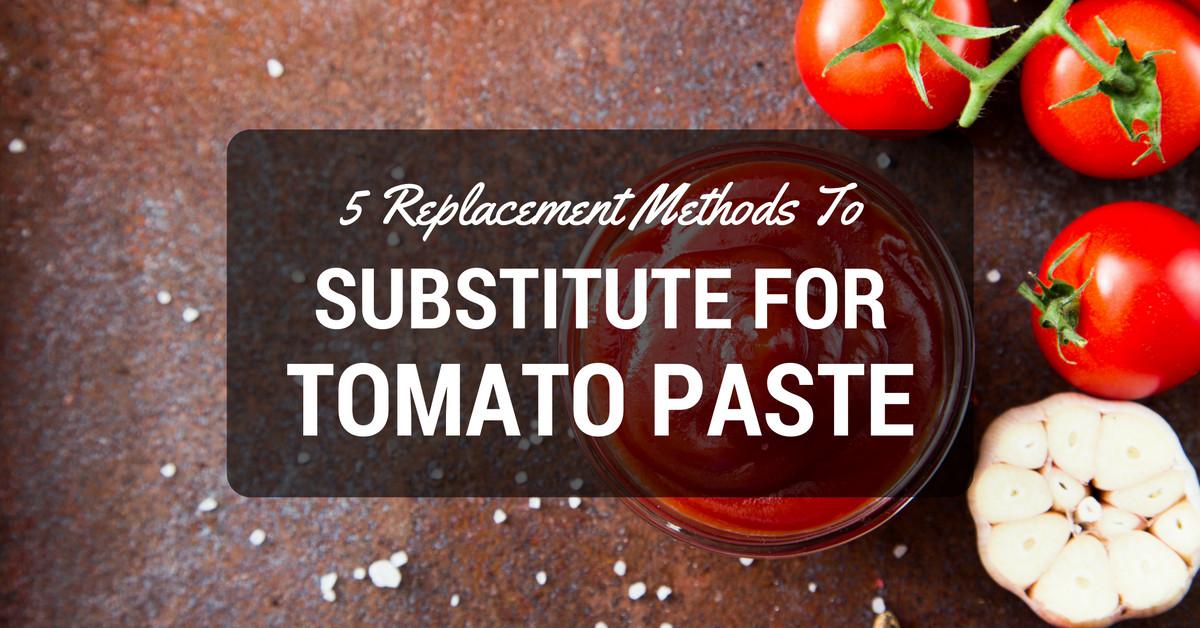 Substitute Tomato Paste For Tomato Sauce  Substitute For Tomato Paste The Best Replacement