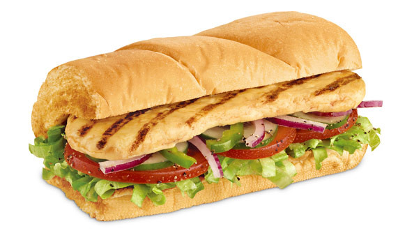 "Subway 6"" Oven Roasted Chicken  Menu Roasted Chicken Breast"