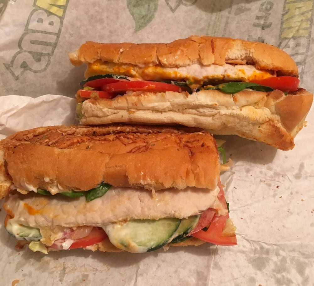 "Subway 6"" Oven Roasted Chicken  Oven Roasted Chicken Wednesday $6 Sub of the Day Yelp"