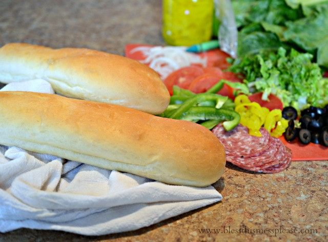 Subway Italian Bread  Homemade Subway Bread Recipe — Bless this Mess