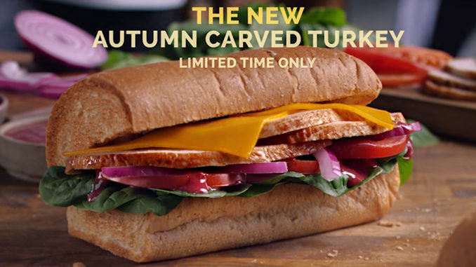 Subway Turkey Sandwiches  Subway Starts Thanksgiving Early With New Autumn Carved